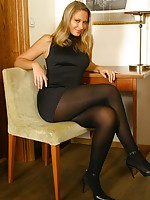 showing nylons